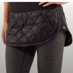 Red LuluLemon Quilted Puffer Skirt